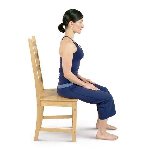 chair yoga sitting mountain tadasana